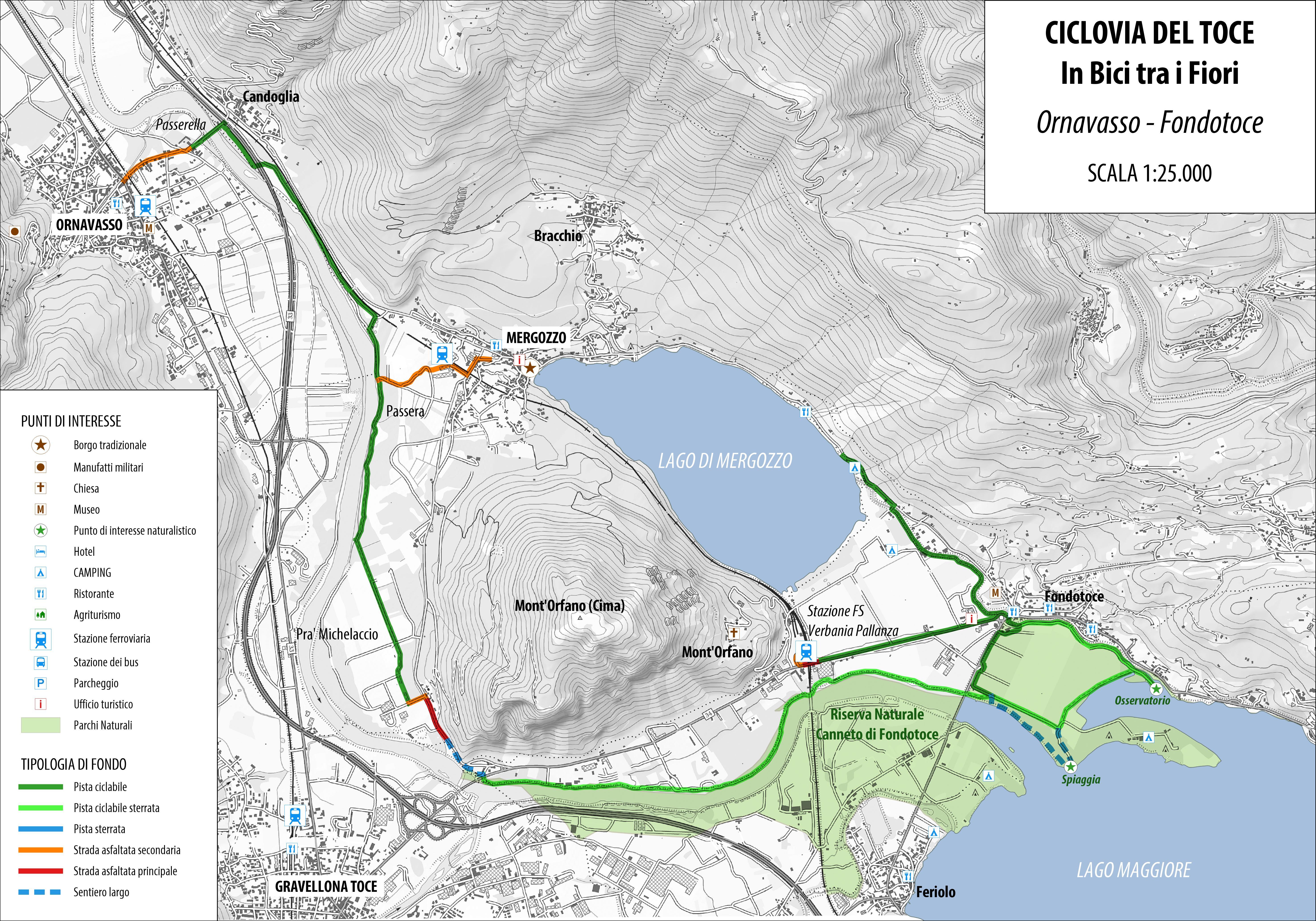 Cartina Lago Maggiore Stradale.A Bike N 4 Ciclovia Del Toce In Bici Tra I Fiori Distrettolaghi It