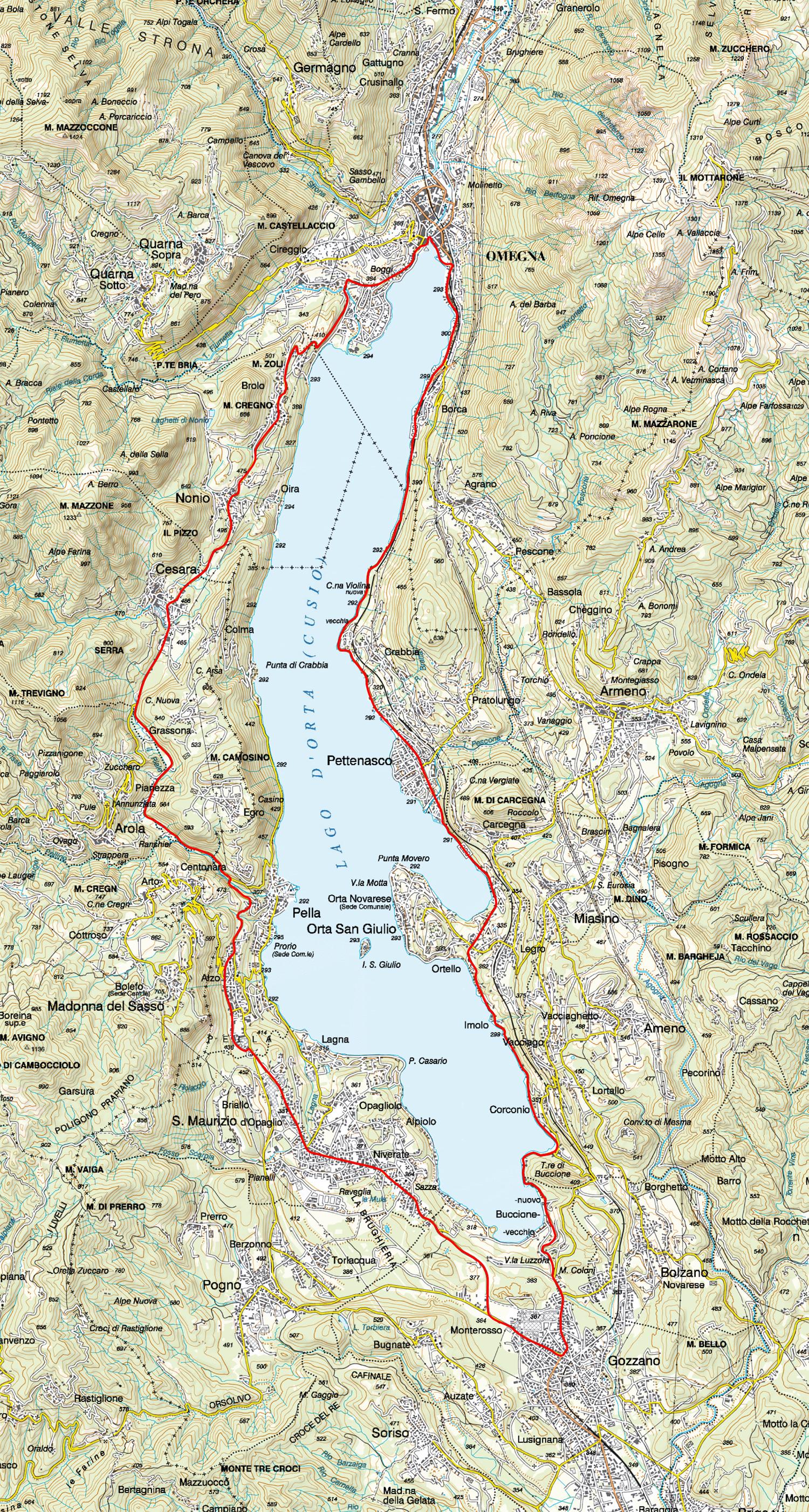 Cartina Lago Maggiore Stradale.A Bike N 37 Giro Del Lago D Orta Distrettolaghi It