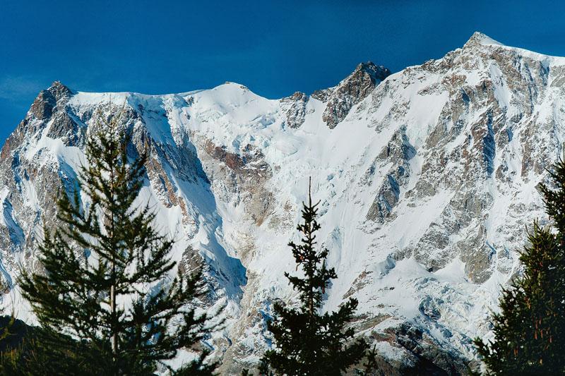 L'imponente parete est del Monte Rosa