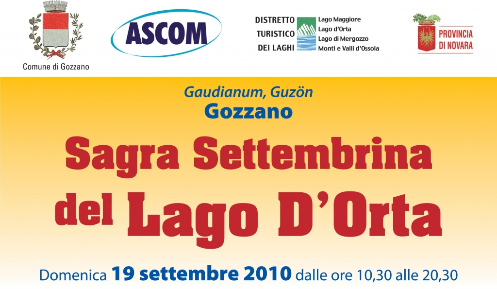 September Feast of Lake Orta: in Gozzano on Sunday, 19th September