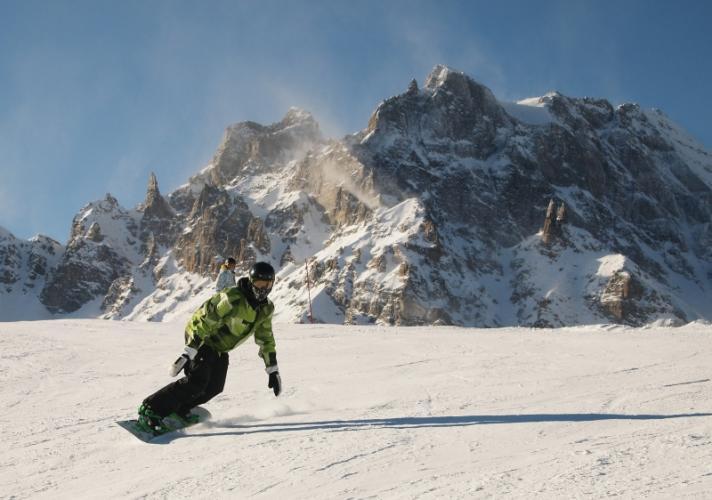 Un paradise pour les snowboarders
