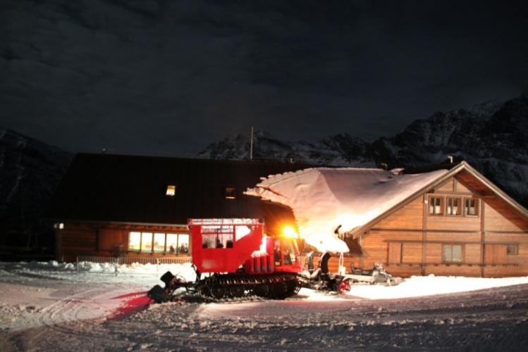 """Le Snow Bus pour le """"Cene in Quota"""""""